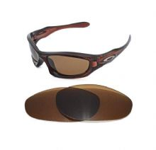 NEW POLARIZED BRONZE REPLACEMENT LENS FOR OAKLEY MONSTER DOG SUNGLASSES